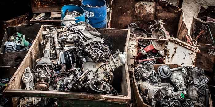 Metal scrap boxes